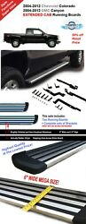 6 Running Boards 04-12 Colorado Canyon Extended Cab Step Bar Chrome Aluminum