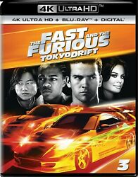 The Fast And The Furious Tokyo Drift 4k Uhd Blu-ray Lucas Black New
