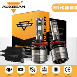 Auxbeam H11 H9 H8 Led Headlight 70w 8000lm Bulbs 6500k White With Canbus Decoder