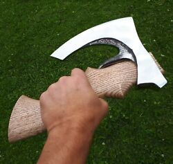 A Bearded Viking Fist Axe. With The Holster On The Belt. Gift For Men. Hunter