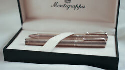 Rare Montegrappa Heritage Fountain Pen And Ballpoint Set Sterling Silver 925