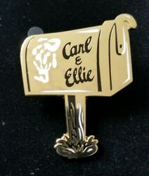 New Disney D23 Gold Carl And Ellie Up Pin 10 Yr Celebration