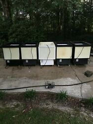 5 Rolling Coolers/freezers. Used But Work Great Freezer And Refrigeration