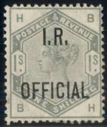 Great Britain O7 1sh I.r. Official Ovpt Unused Ng Thin Spot B.p.s. Cert