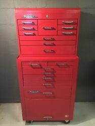 Remline Pro Series 17 Drawer Tool Box Chest Top & Bottom Rolling Mechanic