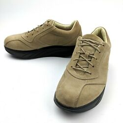 Mbt Beach Womens Tan Suede Leather Toning Rocker Shoes Size 7