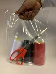 Clear Plastic Carrier Bag With Patch Handle - 10and039and039 X 12and039and039 X 4and039and039 Next Day Deliver