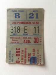 Beatles John Lennon Ticket 1972 Live In New York City One To One Concert Rare