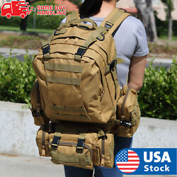US 55L Molle Outdoor Military Tactical Bag Camping Hiking Trekking Backpack $27.98