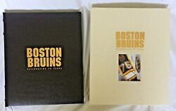 Boston Bruins Celebrating 75 Years Limited Edition 23/1000 Hardcover 8 Auto's
