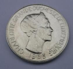 Rare Silver Coin Luxembourg 100 Francs 1963 Charlotte Of Luxembourg