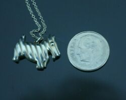 Tiffany & Co. Sterling Silver Scottie Terrier Dog Pendant Necklace 16