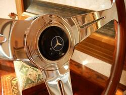Mercedes R107 350 Sl Wood Steering Wheel Nardi 15.3 Old Type 1970and039s Horn Button
