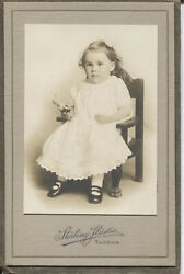 Cabinet Photo Girl With Doll By Sterling Tacoma Washington C.1910 Baby Ruth