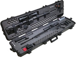 Pre-Made Waterproof Precision Rifle and A R Rifle Case with Accessory Box
