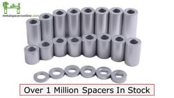 New Aluminum Spacer Bushing 1/2 Od X 1/4 Id--fits M6 Or 1/4 Bolts