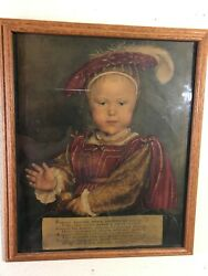 Hans Holbein Lithograph Of King Edwared Vi As Child