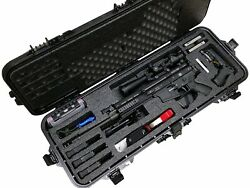 Tactical Pre-Made SCAR17S Waterproof Rifle Case with Accessory Box and Silica