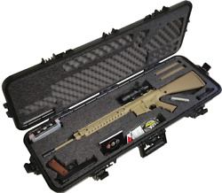 Pre-Made A R 10 Waterproof Rifle Case with Accessory Box and Silica Gel