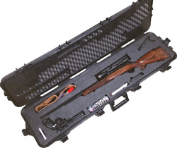 Hunting Pre-Made Rifle Waterproof Case with Accessory Box and Silica Gel to Help