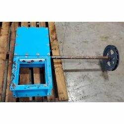 Used 10andquot Sq. Orthman Manual Maintenance Roller Gate Valve
