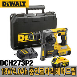 Dewalt / Dch273p2 / Charge Rotary Hammer Drill, 18v 5.0ah, 220v Charger