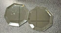 Partylite 8 Sided 4 Beveled Mirror Pair For Pillar Candles
