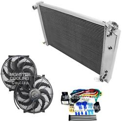 1971-1974 Bel Air Radiator, 14 Fans And Relay, Champion Polished Aluminum 3 Row