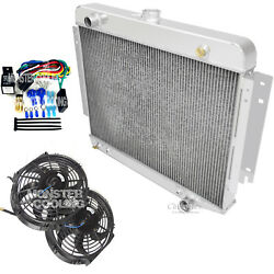 1974-1978 Dodge Ramcharger Champion Aluminum 3 Row Radiator, 12 Fans And Relay