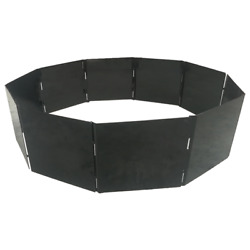 Portable Fire Pit Ring/insert 40 Diameter Steel 10 Panels Stackable