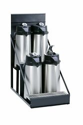 Wilbur Curtis  4 Position Airpot Rack - Compact Design with Integral Drip Tra...
