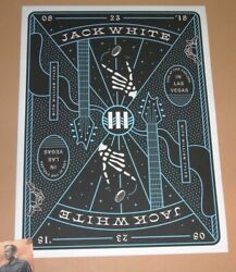 Jack White Matthew Jacobson Las Vegas Poster Print Art Nine 9 of Clubs 2018