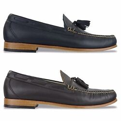 G.h Bass Weejuns Shoes - Palm Springs Larkin Leather Loafer - Navy, Brown - Bnib