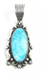 Native American Navajo Sterling Hand Made Blue Bird Turquoise Pendant