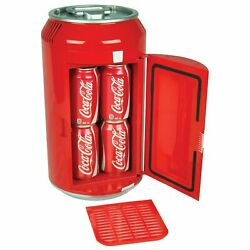 Retro Portable Mini Fridge 8 can Red Classic Look Home Office Dorm or Gift