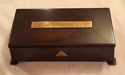 Gold 18ct Tiffany Box Charles Lindbergh Son In Law Dwight W Morrow Bronze.