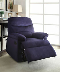 Arcadia - Recliner Motion Blue Woven Fabric