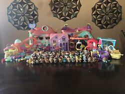 LPS Huge Lot Accessories Houses and Playsets. (Rare Pets) Authentic