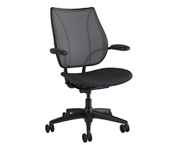 New Humanscale Liberty Office Desk Chair Black - Poppy Seed Corde 4 Graphite