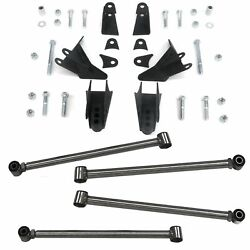 Triangulated Rear Suspension Four 4 Link Kit For 64-67 Chevy Fits Tci Shocks