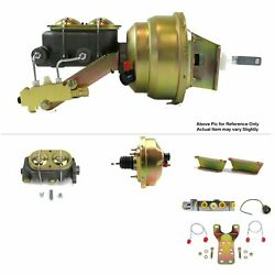 1957-60 Ford Truck Fw Mount Power 8 Single Brake Booster Kit Disc/disc Coyote
