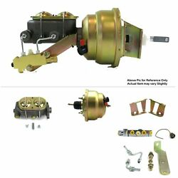 58-64 Chevy Bel Air Protouring Fw Mount Pwr 8 Dual Brake Booster Kit Disc/disc