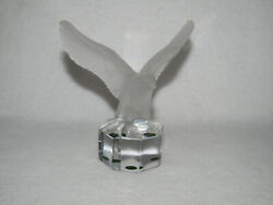 Goebel Frosted Crystal Eagle With Wings Open Sculpture Paperweight - Marked