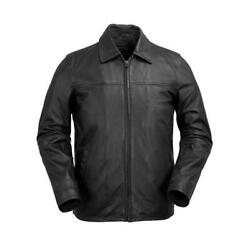 First Manufacturing Mens Leather Jacket Wbm2058 Indiana