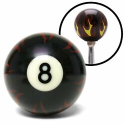 Black 8 Ball Flame Shift Knob With 1/2-20 Insert Dirt Vintage 426 Quick Change