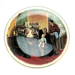 The Annual Visit By Norman Rockwell Gorham Fine China Collectible Plate 1984