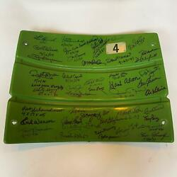 The Finest Hall Of Fame Multi Signed Wrigley Field Seatback 50 Sigs! Steiner