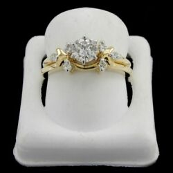 Estate 0.60 Ct Round Diamond 14k Gold Engagement Ring H-i-j And Vs-si Certified