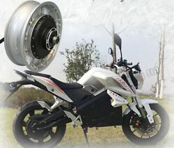 Air Cooled 14kw 72v Brushless Electric Motorcycle Scooter Hub Motor 86-105mph