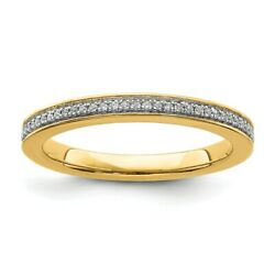 14k Yellow Solid Gold Diamond Stackable Ring Stackable Expressions Fashion Rings